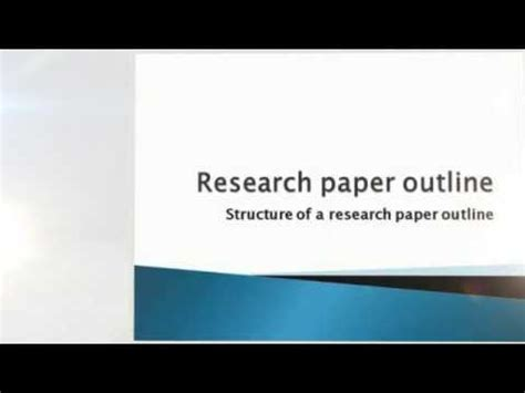 How to develop a good research papers